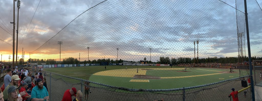 Growden Park isn't impressive, but the fans turn out for the annual Midnight Sun Game.