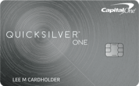 The Capital One Quicksilver One card is a great option for building credit.