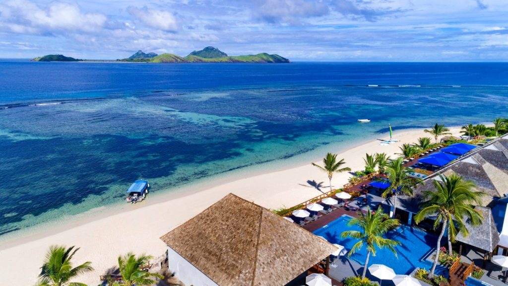 Getting a hotel credit card like the Marriott Bonvoy Boundless card could net you a free night at the Sheraton Resort & Spa on Tokoriki Island in Fiji.