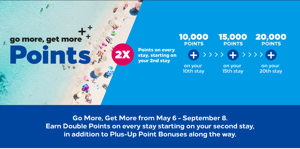 The Hilton Go More Get More promotion doesn't award bonus points on the first stay.