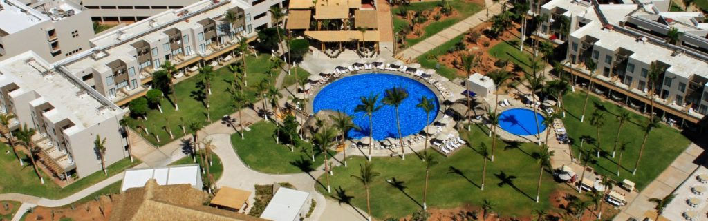 The pools will be the best option to cool off at the Holiday Inn Resort Los Cabos as the ocean water is not swimmable due to currents.  Photo by IHG.