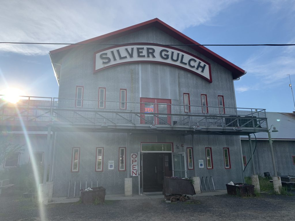 We went to Silver Gulch Brewery before attending the Midnight Sun Game in Fairbanks, Alaska.