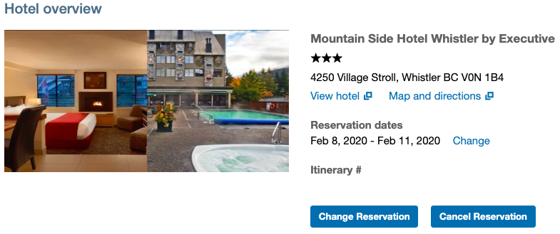 We are staying at the Mountain Side Hotel Whistler by Executive on our ski trip to Whistler.